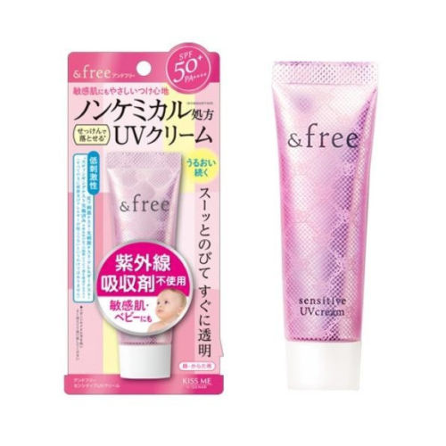 Isehan Free Sensitive UV Cream SPF50 PA 30g Pele Sensveis