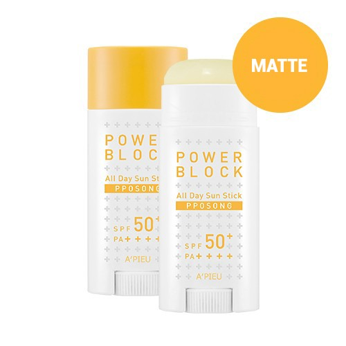 apieu power block all day sun stick