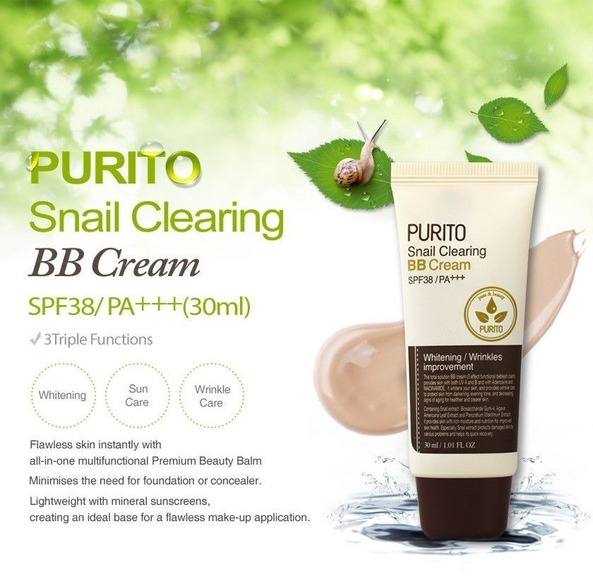 PURITO Snail Clearing BB Cream 30ml SPF38 PA